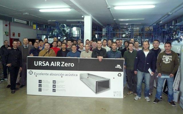 Éxito de convocatoria en las Jornadas Prácticas de montaje de Conductos URSA en Castellón y Paterna