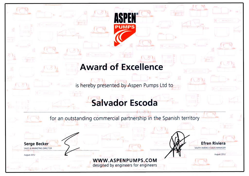 Premio a la Excelencia para SALVADOR ESCODA S.A.